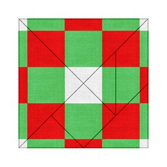 Fabric Christmas Colors Bright Acrylic Tangram Puzzle (6  x 6 )