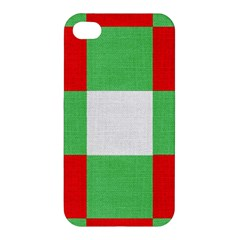 Fabric Christmas Colors Bright Apple iPhone 4/4S Premium Hardshell Case