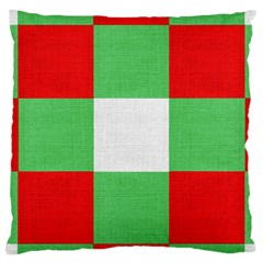 Fabric Christmas Colors Bright Large Cushion Case (One Side)