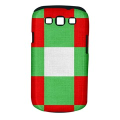 Fabric Christmas Colors Bright Samsung Galaxy S Iii Classic Hardshell Case (pc+silicone)
