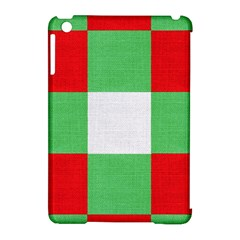 Fabric Christmas Colors Bright Apple iPad Mini Hardshell Case (Compatible with Smart Cover)