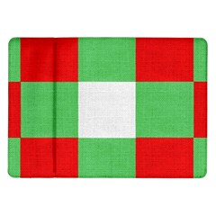 Fabric Christmas Colors Bright Samsung Galaxy Tab 10 1  P7500 Flip Case