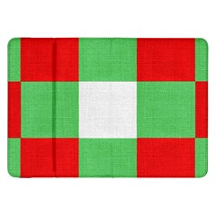 Fabric Christmas Colors Bright Samsung Galaxy Tab 8 9  P7300 Flip Case