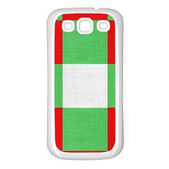 Fabric Christmas Colors Bright Samsung Galaxy S3 Back Case (White)