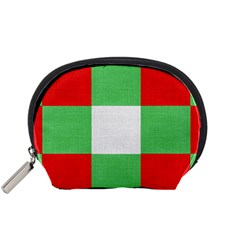 Fabric Christmas Colors Bright Accessory Pouches (small)