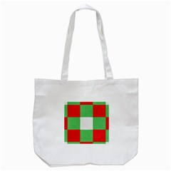 Fabric Christmas Colors Bright Tote Bag (white)