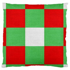 Fabric Christmas Colors Bright Standard Flano Cushion Case (Two Sides)