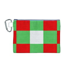 Fabric Christmas Colors Bright Canvas Cosmetic Bag (m)