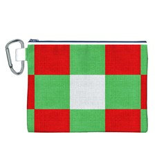 Fabric Christmas Colors Bright Canvas Cosmetic Bag (l)