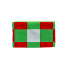 Fabric Christmas Colors Bright Cosmetic Bag (XS)