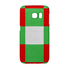 Fabric Christmas Colors Bright Galaxy S6 Edge