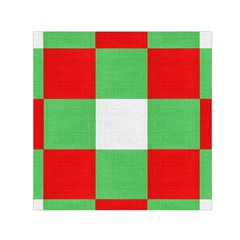 Fabric Christmas Colors Bright Small Satin Scarf (square)