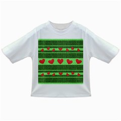 Fabric Christmas Hearts Texture Infant/Toddler T-Shirts