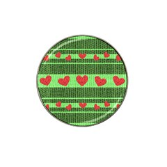 Fabric Christmas Hearts Texture Hat Clip Ball Marker (10 pack)