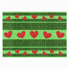 Fabric Christmas Hearts Texture Large Glasses Cloth (2-Side)