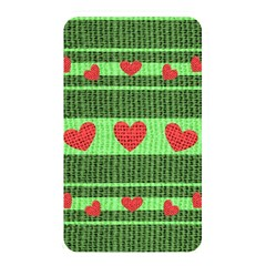 Fabric Christmas Hearts Texture Memory Card Reader