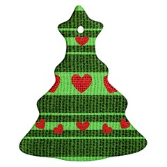 Fabric Christmas Hearts Texture Ornament (Christmas Tree)