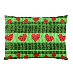 Fabric Christmas Hearts Texture Pillow Case (Two Sides)
