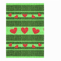 Fabric Christmas Hearts Texture Small Garden Flag (Two Sides)