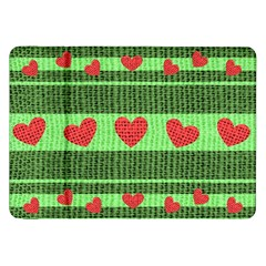 Fabric Christmas Hearts Texture Samsung Galaxy Tab 8.9  P7300 Flip Case