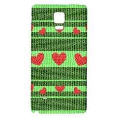 Fabric Christmas Hearts Texture Galaxy Note 4 Back Case