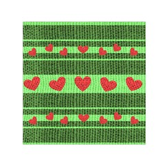 Fabric Christmas Hearts Texture Small Satin Scarf (Square)