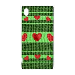 Fabric Christmas Hearts Texture Sony Xperia Z3+