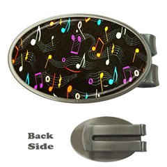 Fabric Cloth Textile Clothing Money Clips (oval)
