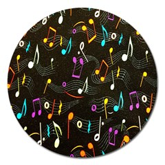 Fabric Cloth Textile Clothing Magnet 5  (Round)