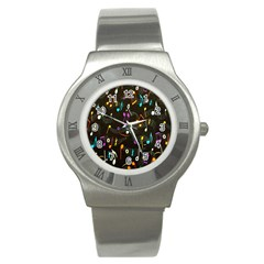 Fabric Cloth Textile Clothing Stainless Steel Watch
