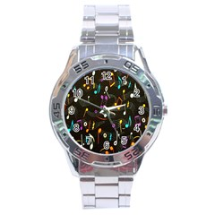 Fabric Cloth Textile Clothing Stainless Steel Analogue Watch