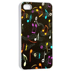 Fabric Cloth Textile Clothing Apple iPhone 4/4s Seamless Case (White)