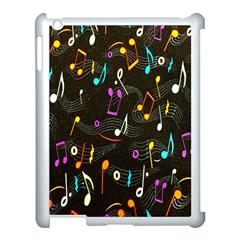 Fabric Cloth Textile Clothing Apple iPad 3/4 Case (White)