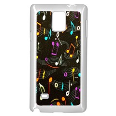 Fabric Cloth Textile Clothing Samsung Galaxy Note 4 Case (white)