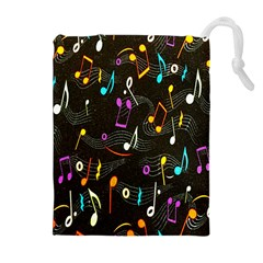 Fabric Cloth Textile Clothing Drawstring Pouches (Extra Large)