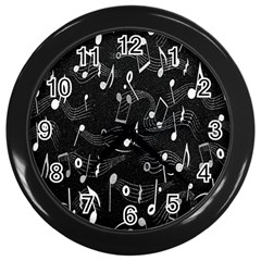 Fabric Cloth Textile Clothing Wall Clocks (Black)