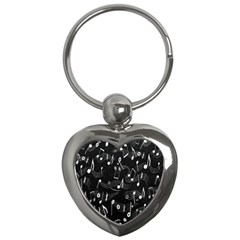 Fabric Cloth Textile Clothing Key Chains (Heart)