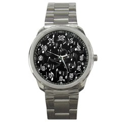 Fabric Cloth Textile Clothing Sport Metal Watch