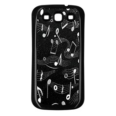Fabric Cloth Textile Clothing Samsung Galaxy S3 Back Case (Black)