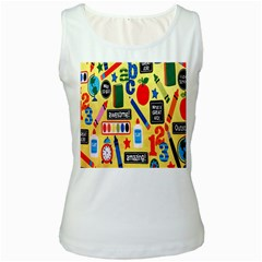 Fabric Cloth Textile Clothing Women s White Tank Top