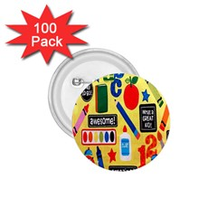 Fabric Cloth Textile Clothing 1.75  Buttons (100 pack)