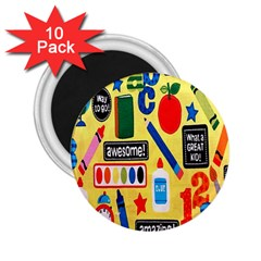 Fabric Cloth Textile Clothing 2 25  Magnets (10 Pack)