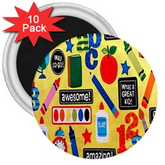 Fabric Cloth Textile Clothing 3  Magnets (10 Pack)