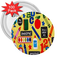 Fabric Cloth Textile Clothing 3  Buttons (100 pack)