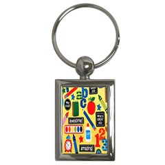 Fabric Cloth Textile Clothing Key Chains (Rectangle)