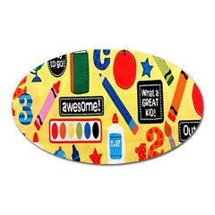 Fabric Cloth Textile Clothing Oval Magnet