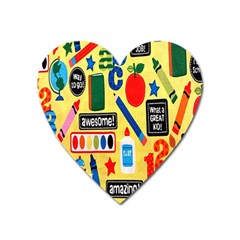 Fabric Cloth Textile Clothing Heart Magnet
