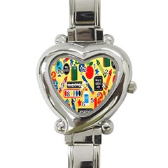 Fabric Cloth Textile Clothing Heart Italian Charm Watch