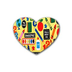 Fabric Cloth Textile Clothing Heart Coaster (4 pack)