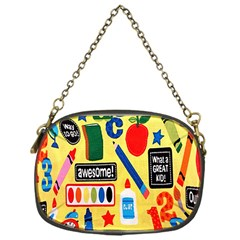 Fabric Cloth Textile Clothing Chain Purses (One Side)